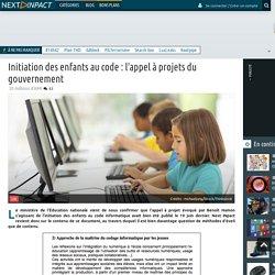Initiation des enfants au code : l'appel à projets du gouvernement