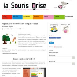 Hopscotch : une initiation ludique au code informatique