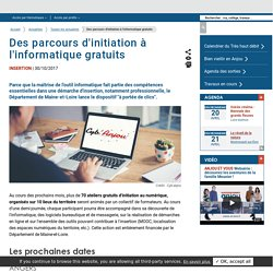 [Maine-et-Loire] Des parcours d'initiation à l'informatique gratuits