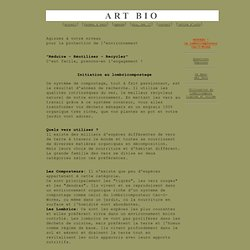 Initiation au Lombricompostage - ART BIO -