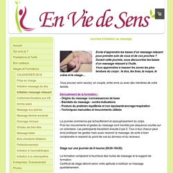 Initiation massage relaxant - En Vie de Sens - Massages, Naturopathie et Formations