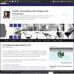 La notion de gras dans le vin - Emilie Sommelier blog vin initiation oenologique