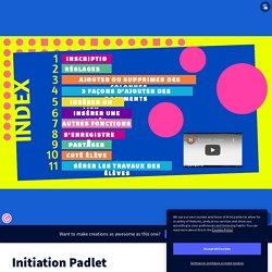 Initiation Padlet by Emy F on Genially