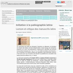 Institut de recherche et d'histoire des textes