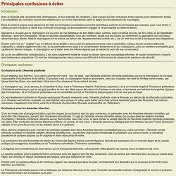 Initiation à la mycologie: Principales confusions