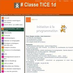 20 sessions d'initiation à la programmation avec Scratch