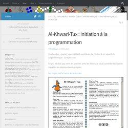 Al-Khwari-Tux : Initiation à la programmation – Cyrille Largillier