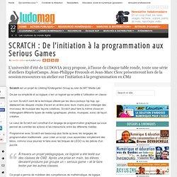 SCRATCH : De l'initiation à la programmation aux Serious Games
