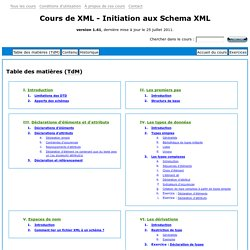 Initiation aux Schema XML