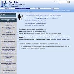 Initiation site web associatif avec SPIP - Le Pic (Projet Internet et Citoyenneté)