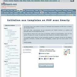 Initiation aux templates en PHP avec Smarty
