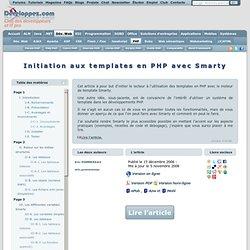 Initiation aux templates en PHP avec Smarty - Club d'entraide des développeurs francophones