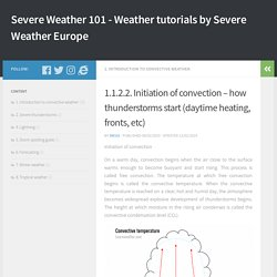 1.1.2.2. Initiation of convection – how thunderstorms start (daytime heating, fronts, etc) – Severe Weather 101 – Weather tutorials by Severe Weather Europe