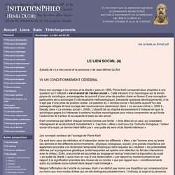 InitiationPhilo - Sociologie - Le lien social (4)