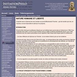 InitiationPhilo - Parcours spinoziste - Nature humaine et liberté