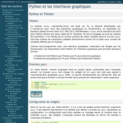 Python et les interfaces graphiques — InitiationPython 1.5.1 documentation