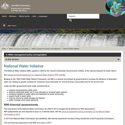 Home National Water Initiative - Department of Agriculture and Water Resources