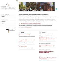 Initiative Architektur und Baukultur Startseite