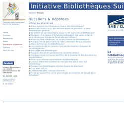 Questions & réponses: Initiative Bibliotheken
