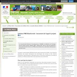 Initiative PME-Biodiversité: lancement de l'appel à projets