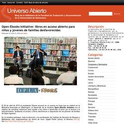 Open Ebooks Initiative: libros en acceso abierto para niños y jovenes de familias desfavorecidas