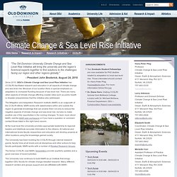 Climate Change & Sea Level Rise Initiative - Old Dominion University
