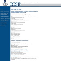 RISE: Research Initiative on Social Entrepreneurship