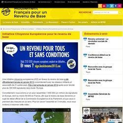 Initiative Citoyenne Européenne pour le revenu de base