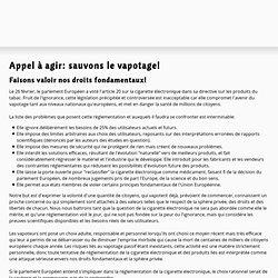 Initiative Européenne pour le libre vapotage