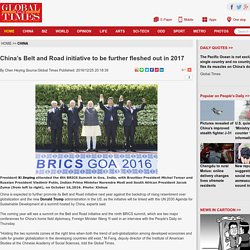 China's Belt and Road initiative to be further fleshed out in 2017