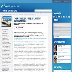 Cocori-Cloud : que penser de l'initiative gouvernementale ? - Cloud Experience