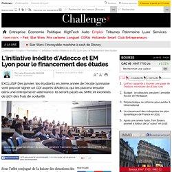 L'initiative inédite d'Adecco et EM Lyon pour le financement des études