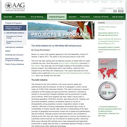 About AAG's Initiative for an NIH-wide GIS Infrastructure