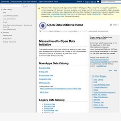 MA Open Data Initiative