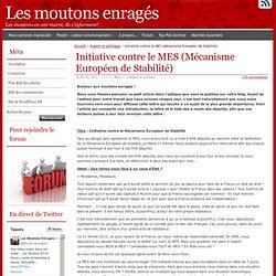 Initiative contre le MES (Mécanisme Européen de Stabilité)