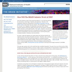 How Will The BRAIN Initiative Work At NIH? - Brain Research through Advancing Innovative Neurotechnologies (BRAIN)- National Institutes of Health (NIH)