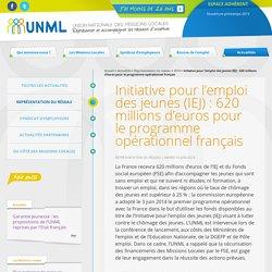 Initiative pour l'emploi des jeunes (IEJ) : 620 millions d'euros pour le programme opérationnel français