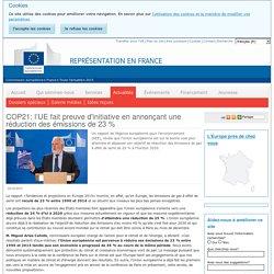 COP21: l'UE fait preuve d'initiative en annonçant une réduction des émissions de 23 % - Représentation en France de la Commission européenne