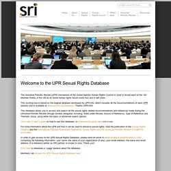 Sexual Rights Initiative « Welcome to the UPR Sexual Rights Database