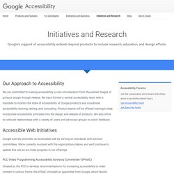 Initiatives and Research – Google Accessibility