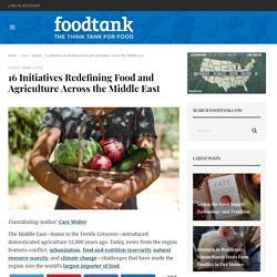 16 Initiatives Redefining Food and Agriculture Across the Middle East