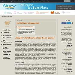 Initiatives citoyennes - Air PACA air et climat, bons plans pour agir