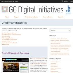 Digital Initiatives at the Grad Center