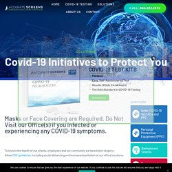Initiatives To Combat Coronavirus (Covid-19) with Accurate C&S Services