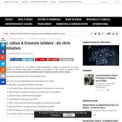 Art, culture & Economie Solidaire : dix récits d'initiatives - Cultureveille