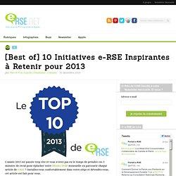 [Best of] 10 Initiatives e-RSE Inspirantes à Retenir pour 2013