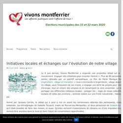 Initiatives locales et échanges sur l'évolution de notre village