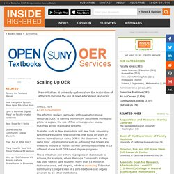 New university initiatives focus on bringing open educational resources to the masses