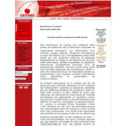 Centre Europeen Ressources Initiatives Solidaires et Entreprises Sociales.