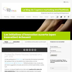 Les initiatives d'innovation ouverte #open innovation# échouent